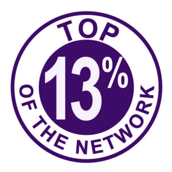 Award icon - Top of the Network - 13%