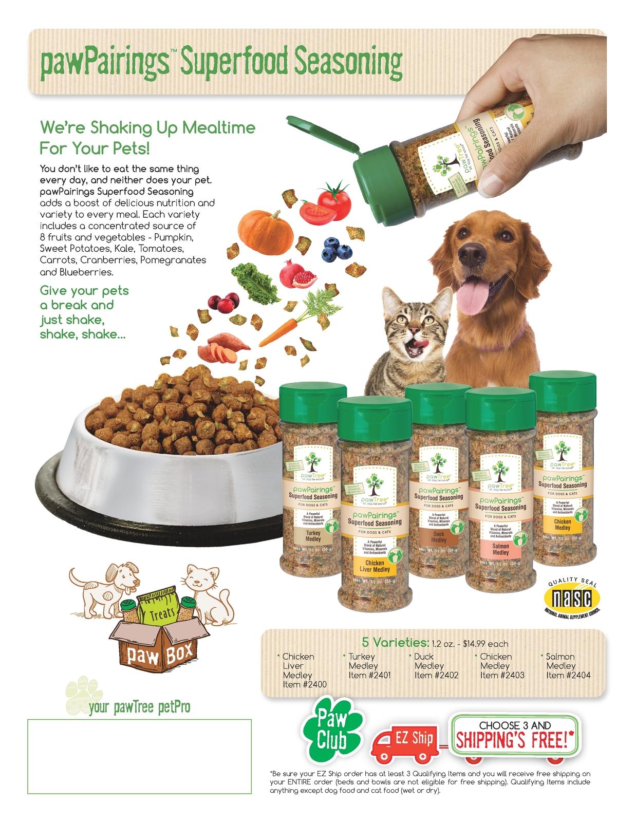 Sales Sheet - pawPairings Superfood Seasoning