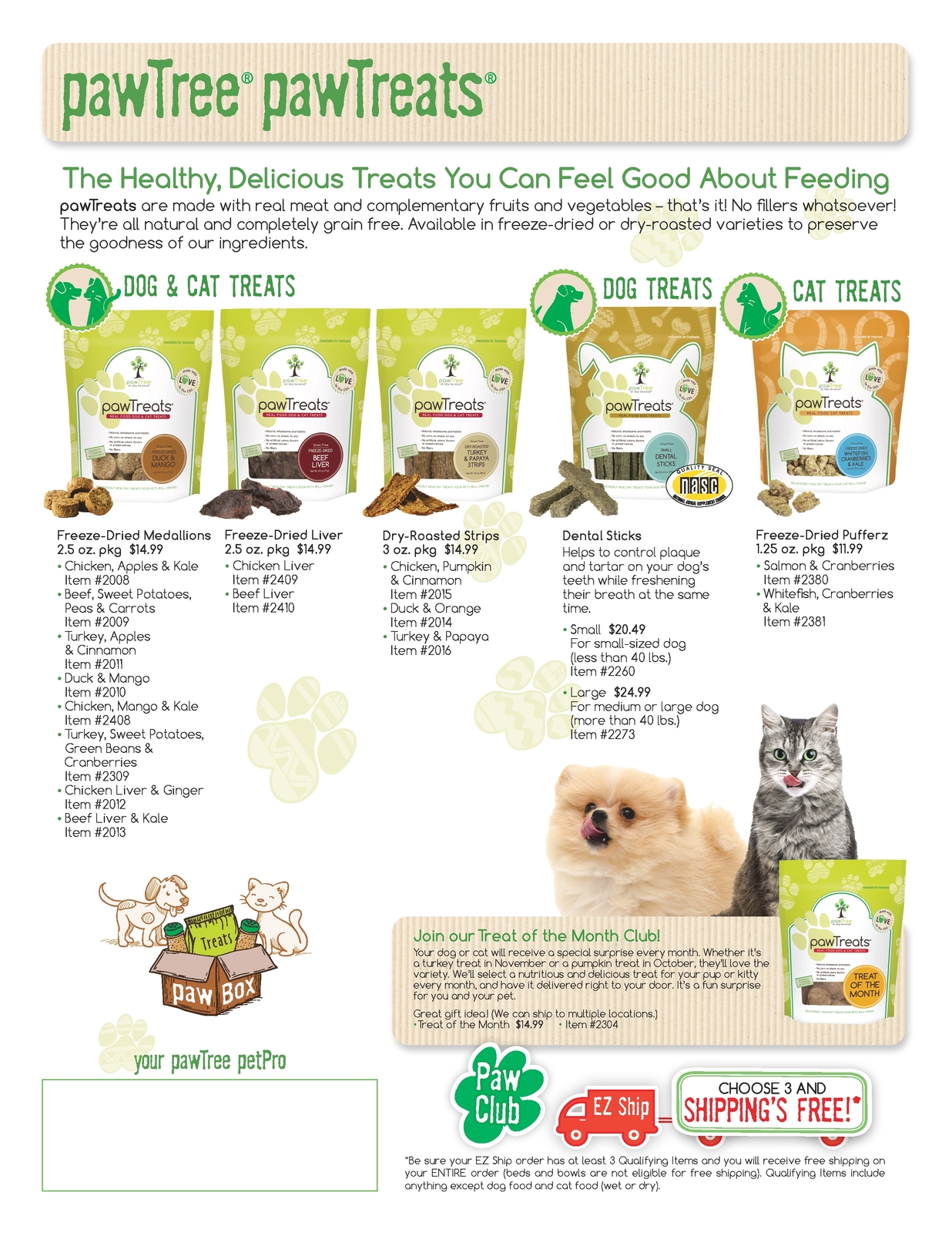 Sales Sheet - pawTreats